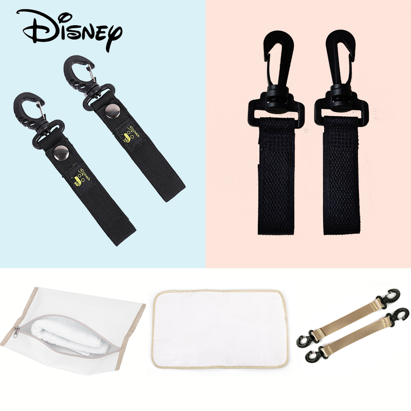Disney Diaper Bag Organizer Stroller Bottle Heater Child Care Three-piece Dry And Wet Separator Baby Carriage Hook Diaper Pad