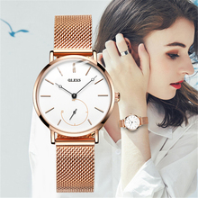 OLEVS Fashion Women Watches with Mesh Bracelet Rose Gold Casual Luxury