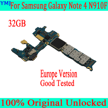 32GB for Samsung Galaxy Note 4 N910F Motherboard,100% Original unlocked for Samsung Note 4 N910F Mainboard  Free Shipping