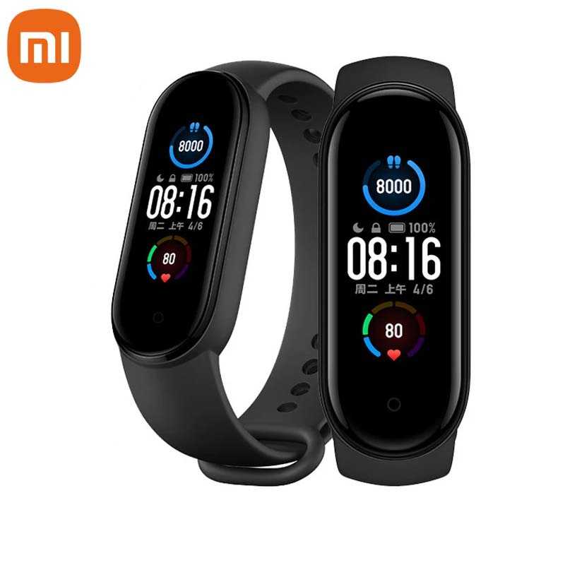 2020 Xiaomi Mi Band 5 Smart Bracelet 1:1 large AMOLED Screen Heart Rate Fitness Traker Bluetooth 5.0 Sport Waterproof band 5|Smart Wristbands| - AliExpress