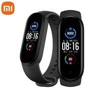 Xiaomi Mi Band 5 Smart Bracelet 1:1 grande schermo AMOLED frequenza cardiaca Fitness Traker Bluetooth 5.0 Sport cinturino impermeabile 5