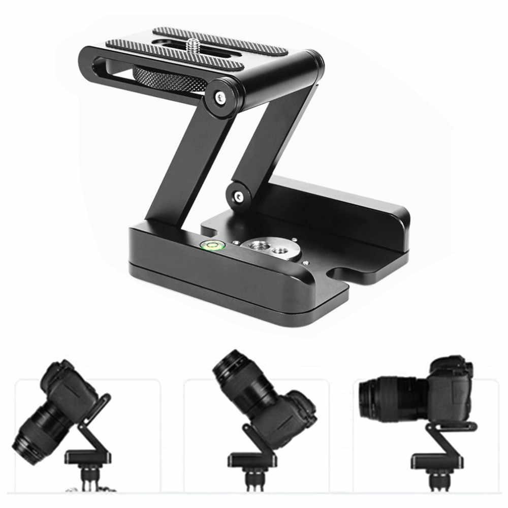 ZH3 Z Pan trípode cabeza flexible plegable Z tipo Tilt Head para Canon Nikon Sony DSLR cámara de aleación de aluminio trípode cabezas de solución