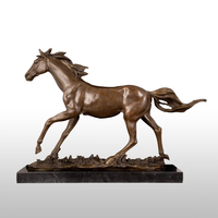ATLIE Bronze Running Horse Sculpture Animal Statue Figurine Office Home Decor High End Business Gifts