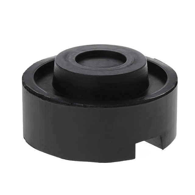 2020 New Black Rubber Slotted Floor Jack Pad Frame Rail Adapter For Pinch Weld Side Pad