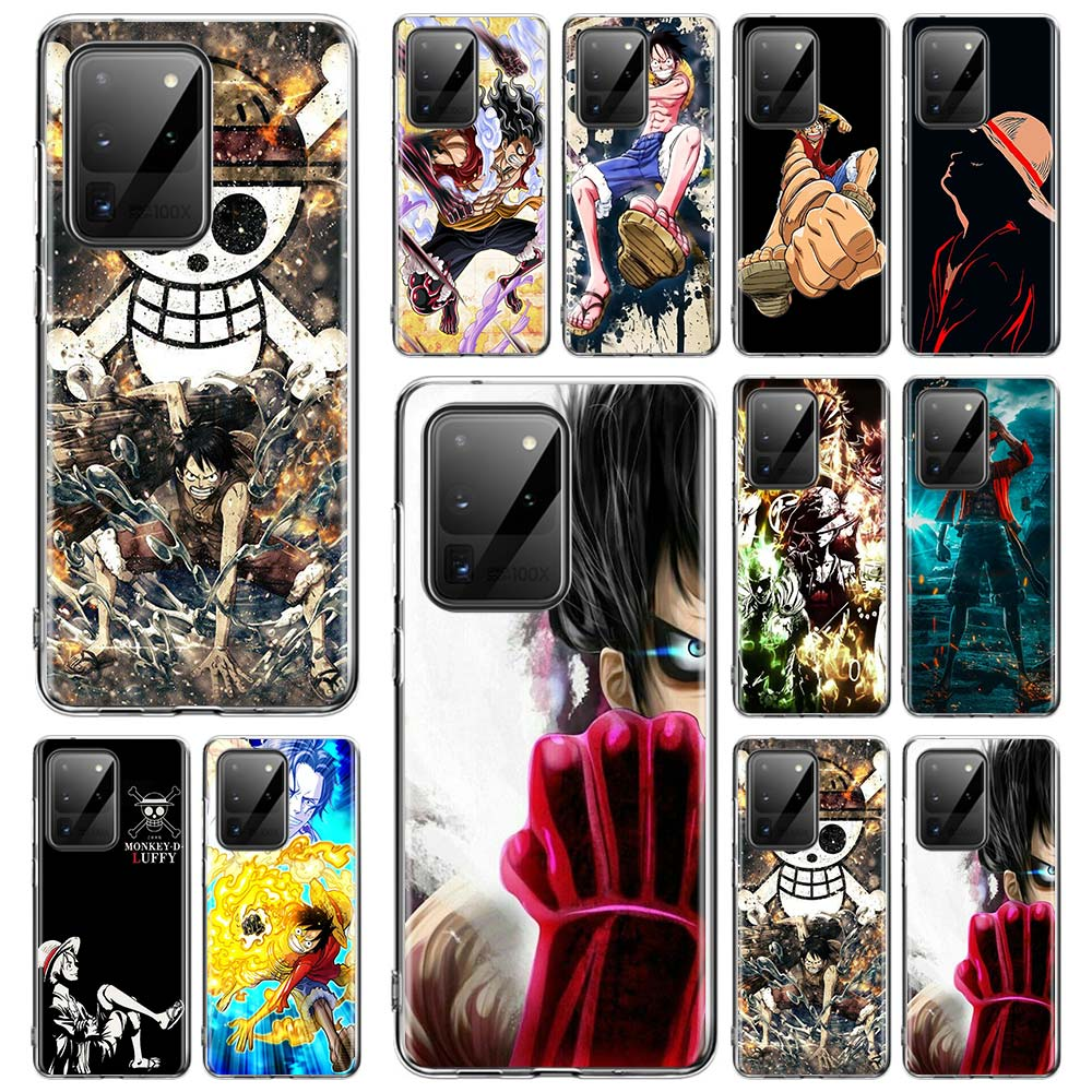 Coque Soft Case for <font><b>Samsung</b></font> Galaxy S20 Ultra S10 S9 S8 Plus Lite <font><b>S10e</b></font> 5G S7 Edge Cover Shell One Piece Luffy Monkey image