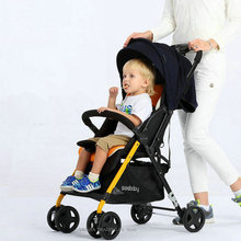 Lightweight Baby Stroller with 4 Wheels Shock Absorption, Portable Baby