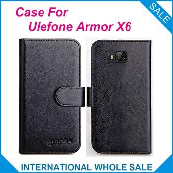 Перейти на Алиэкспресс и купить Чехол-книжка Ulefone Armor X6, 6 видов цветов, кожаный чехол-бумажник для Ulefone Armor X6, чехол для телефона с отделением для кредитных карт