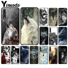 Yinuoda Fierce Snow Wolf Newly Arrived Black Phone Case for HuaweiY9 2018 HONOR 8 8X 9 9LITE View 9 10 honor 10 20 lite Mobile(China)