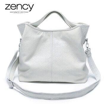 Zency, оптовая продажа, модная женская сумка, 100% натуральная кожа, Женская Повседневная Сумка-тоут, Очаровательная сумка через плечо, Классиче...