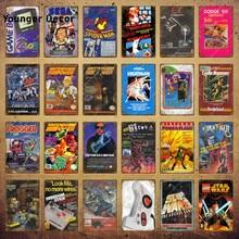 Filme jogo de vídeo em quadrinhos yoys poster jogar jogos sinais de metal gamer adesivo de parede para pub bar clube casa decoração dos desenhos animados placa YI-162