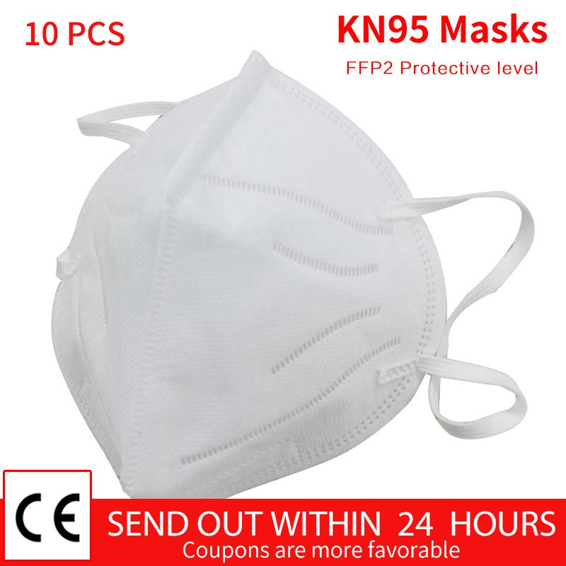 KN95 Mask Ffp2 Respirator Disposable Protective Masks Mouth Face Respirato N95  95% Filtration Mouth Masks
