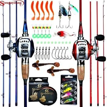 Baitcasting Full Fishing Tackle Kit 4 Section Carbon Fibre