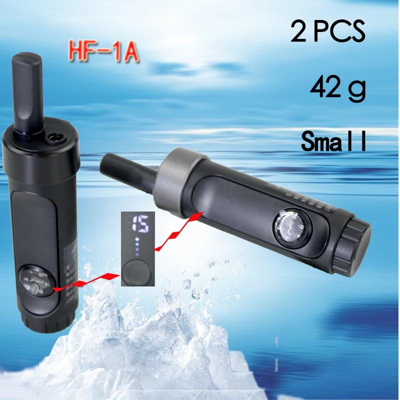 2 PCS HONGFENG-1A Mini Walkie Talkie Phone Portable Ham Radio Scanner Two Way Radio Communicator VHF Walkie-talkie