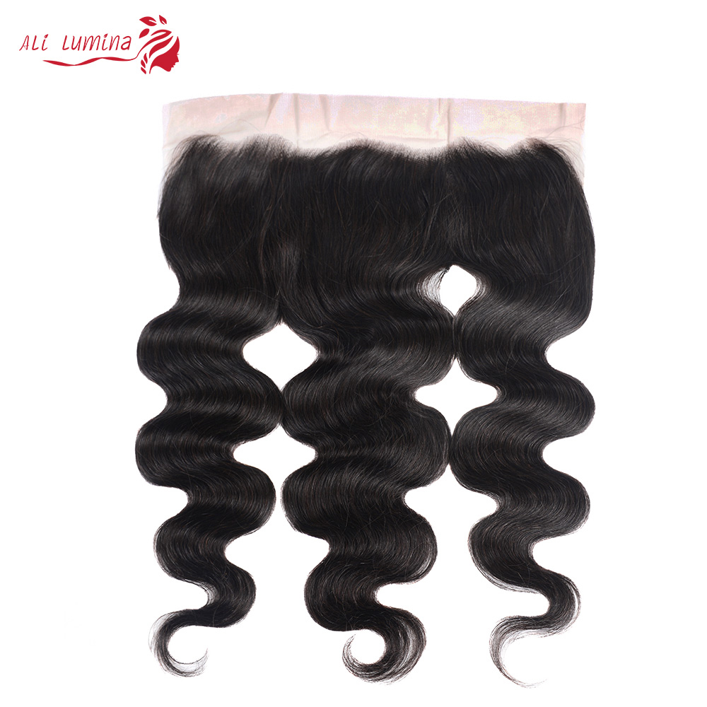 Body Wave 13x4 4x4 Lace Frontal  Closure with Baby Hair  Jet Black Natural Hairline Free Part Lace Closure 1
