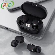PJD TWS Bluetooth 5.0 słuchawki z redukcją szumów bezprzewodowe słuchawki douszne wyświetlacz LED z mikrofonem słuchawki douszne do telefonów Xiaomi Redmi