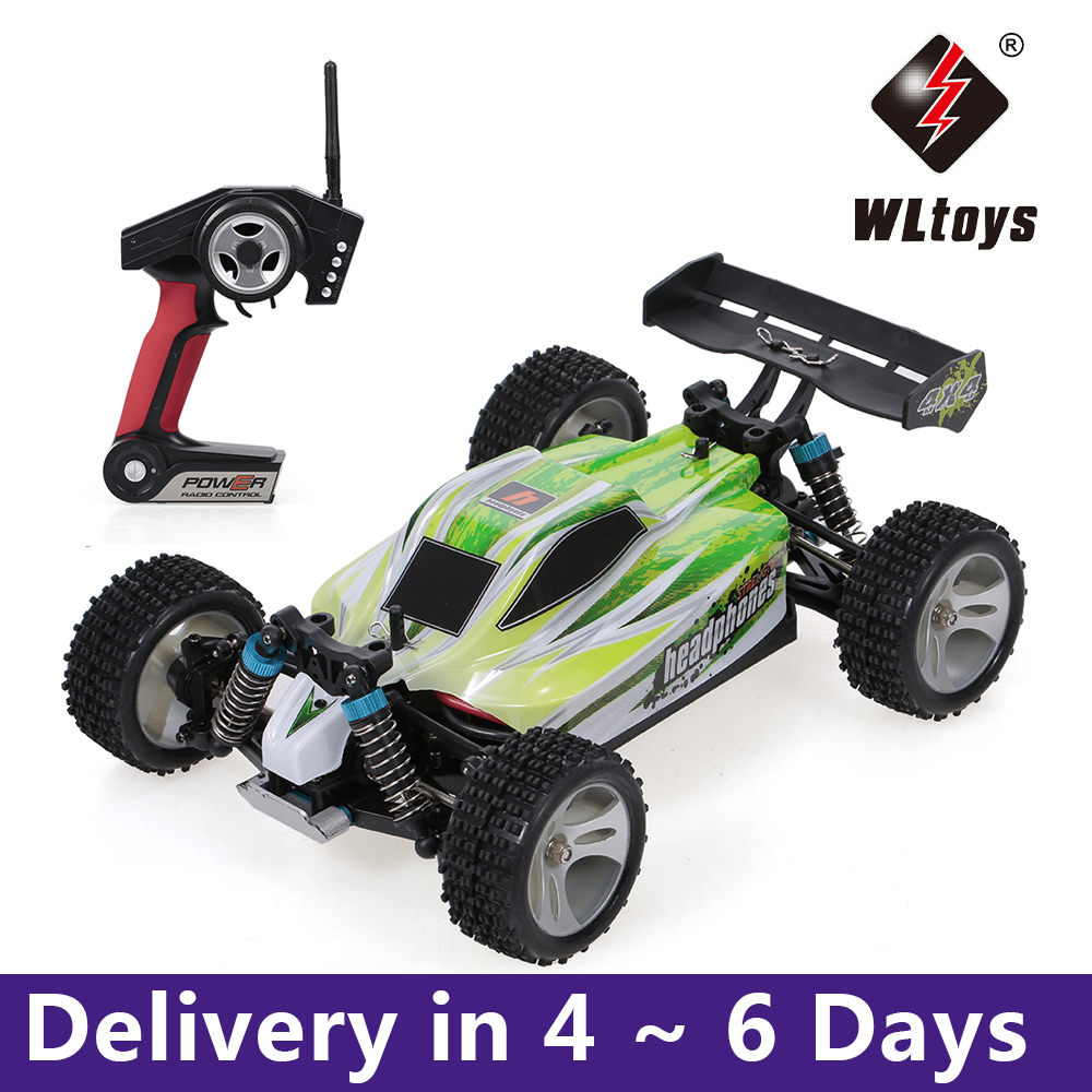 WLtoys Toys A959-A A959-B 2.4G 1/18 Scale 4WD Electric RTR Off-road Buggy 35/75KM/H RC Car Toys for Children Remote Control Gift 1