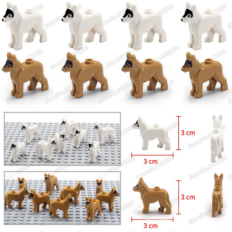 Special police police dog military hound Compatible Building Blocks city Pet dog Figures Moc Assembly mini ww2 Scenes model Toys in Blocks from Toys Hobbies