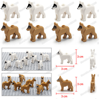 Special police police dog military hound Compatible Building Blocks city Pet dog Figures Moc Assembly mini ww2 Scenes model Toys bela 10424 urban city police police guard building block toys compatible with 60047