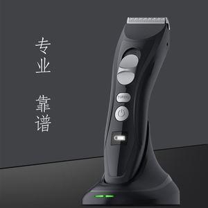Image 2 - Profesyonel şarj edilebilir elektrikli saç kesme makinesi titanyum kafa berber saç düzeltici erkekler için akıllı LCD ekran saç kesme makinesi