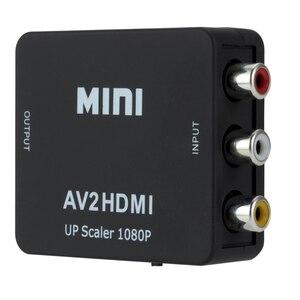 Адаптер преобразователь AV HDMI совместимый с HD видеоконвертером HDMI совместимый с RCA AV/CVSB L/R 1080P Поддержка NTSC PAL Кабели HDMI      АлиЭкспресс