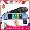 E ACE Car DVR FHD 1080P 7.0 Inch Video Recorder Mirror Camera Dual Lens with Rear View Camera Auto Registrator Dash Cam