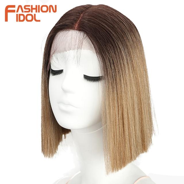 Pelucas de moda IDOL con encaje frontal de 10 pulgadas, pelucas rectas de pelo de Bob para mujeres, pelucas de Cosplay, pelo sintético resistente al calor, Envío Gratis