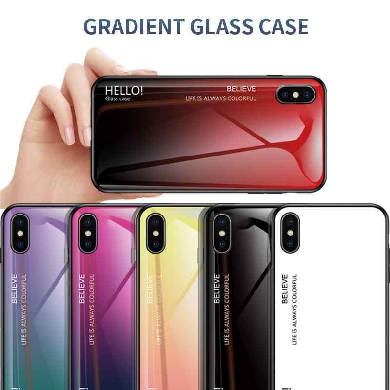 التدرج الزجاج واقية حقيبة لهاتف أي فون 6 6S 7 8 زائد على ل iphone X XS XR XS ماكس غطاء إطار هاتف محمول صدمات Fundas كابا