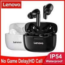 Lenovo Draadloze Bluetooth Koptelefoon Tws Oordopjes IP54 Waterdichte Headset Hifi Draadloze Headset Met Microfoon Sport Oordopjes Bluetooth