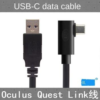 Para cabo de dados Oculus Link USB-C Steam VR Quest / 2 Tipo-C 3.1, cotovelo selecionável 3m 5m 8m