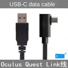 Pour Oculus Link usb c Steam VR Quest/2 type c 3.1 câble de données, coude sélectionnable 3m5m8m8m