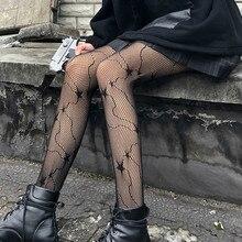 Women Party Tights Black Five Pointed Star Versatile Fishnet Pantyhose Summer Japanese Lolita Silk Stockings Women's Hosiery