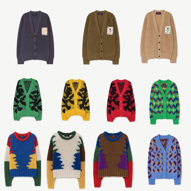 New Autumn Winter TAO Brand Girls Sweaters Long Sleeve Baby Christmas Sweater Kids Cardigan Coats Warm Boys Cardigan Clothes 1