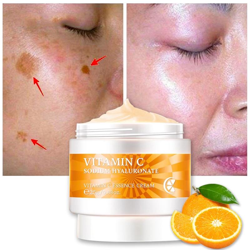 Vitamin C Whitening Face Cream Remove Wrinkles Brighten Anti Oxidation Fade Fine Lines Shrink Pores Anti Aging Skin Care Serum