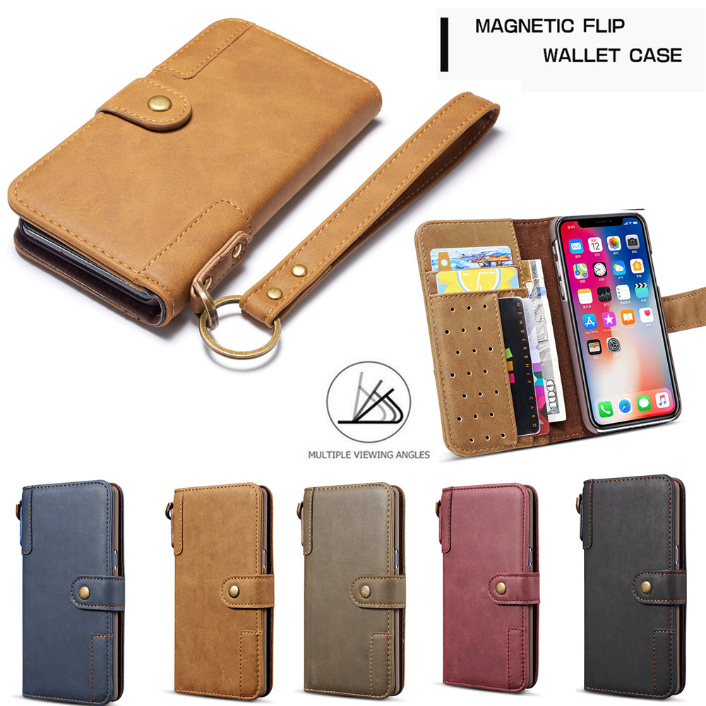 Luxury Magnetic Case for New iPhone 11 Pro Max 2019 XI RX XS MAX XR Leather Wallet Business Book Flip Stand Cover phone case-in Wallet Cases from Cellphones & Telecommunications