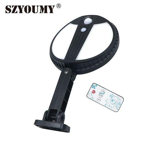 szyoumy 70 led luz de rua solar com sensor de movimento controle remoto ao ar