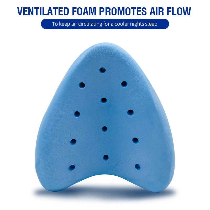 Pregnancy Body Memory Foam Pillow Orthopedic Knee Leg Wedge Foot Cushion for Side Sleeper Sciatica Relief or Pillowcase 2