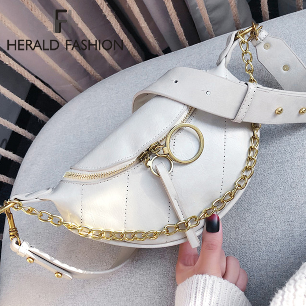 Brand Design Chain Women Shoulder Bag Fashion Casual Female Bust Messenger Crossbody Bag Travel Money Phone Purse Lady Handbag