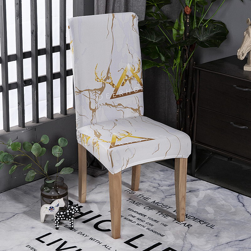 1 Pcs Modern Stretch Elastic Chair Covers Spandex Removable Slipcovers Home Decorative For Dining Room Banquet Wedding Kitchen