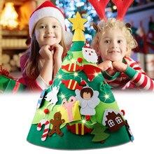3D Войлок, сделай сам, Рождественская елка, 28 шт., съемный светильник, гирлянда, рождественские подарки для детей, малышей, Рождественское украшение