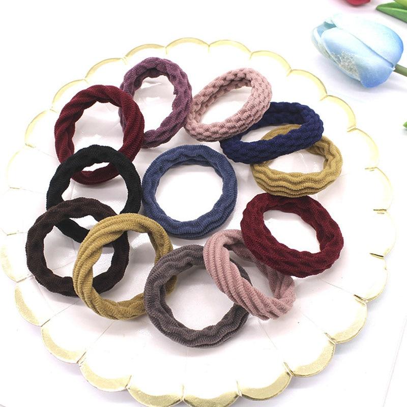 100PCS/Set Rubber High Elastic Hair Band Women girl Nylon Without Seams Durable Hair Scrunchies Yoga Tie hair accessories