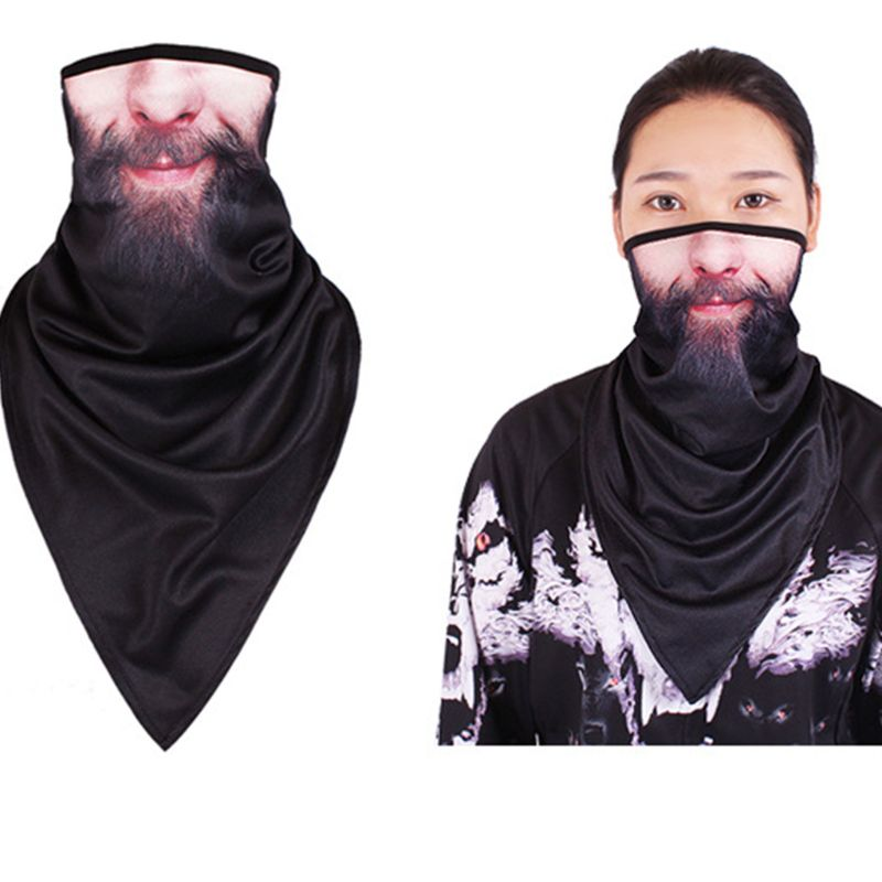 Unisex Neck Gaiter Face Triangle Scarf Sunscreen Ice Silk Graffiti Bandana Mask M6CD