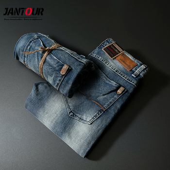 High quality Mens Jeans Holes Frayed Hiphop Ripped Blue Skinny Stretch Streetwear Distressed Moto Biker Jeans Male Denim Pants knee holes frayed zipper fly narrow feet ripped jeans
