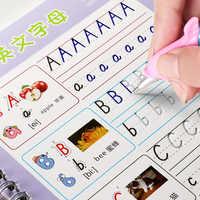 Riutilizzabile Alfabeto Inglese Quaderno Giochi di disegno A Mano di Scrittura Groove Auto Svanisce Giocattoli Educativi Per I Bambini di scuola Del Capretto supplise