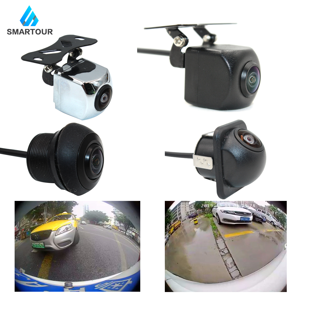 Smartour Ehicle Rear Front Side View Camera CCD Fish Eyes Night Vision Waterproof IP68 Car Reversing Back Up Camera Universal