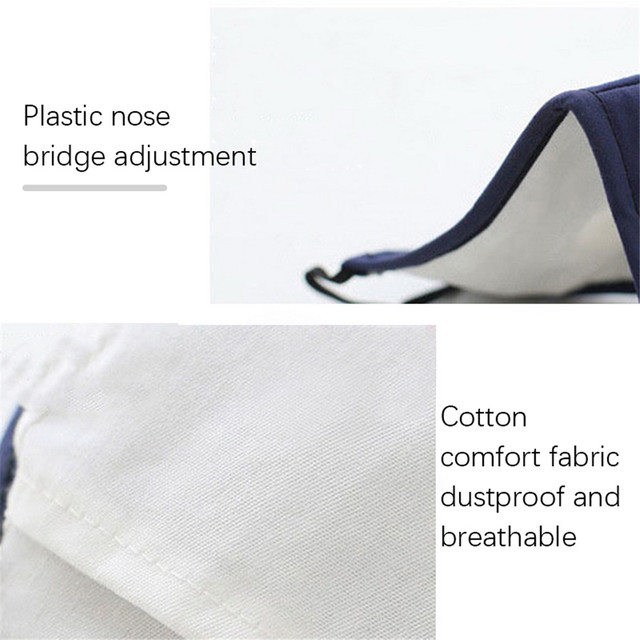 1-50pcs Reusable Washable Face Mask Mouth Masks PM2.5 Anti Dust Pollution Cotton Activated Carbon Filter Valve Facemask New 5