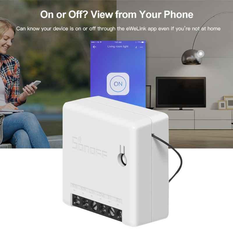 Для Sonoff MINI DIY умный переключатель маленький WiFi переключатель для Alexa Google Home пульт дистанционного управления сигнализация
