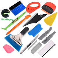 FOSHIO Kit de herramientas de vinilo para coche, espátula magnética, raspador, lámina de fibra de carbono, película adhesiva, cuchillo, Auto, accesorios para coche