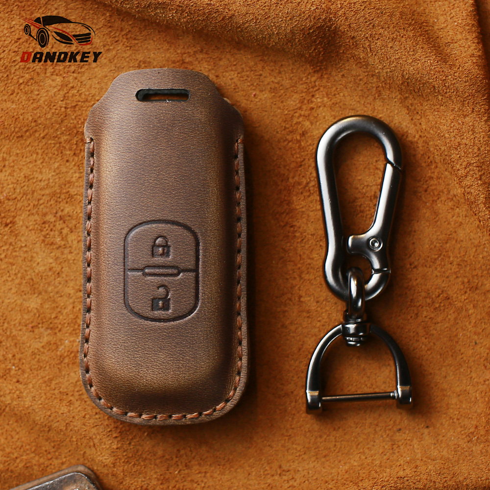 Dandkey Genuine Leather <font><b>Key</b></font> <font><b>Case</b></font> Cover For <font><b>Mazda</b></font> <font><b>2</b></font> 3 5 6 8 CX5 CX7 CX9 GT M3 M5 M6 M8 Atenza Axela <font><b>Key</b></font> Shell Skin Bag image