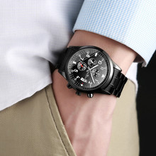 Fashion FNGEEN Watch Male Stainless Steel Calendar Analog Quartz Watches Men Wri