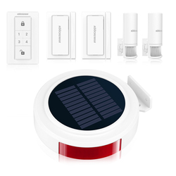 KOOCHUWAH Draadloze GSM Alarmsysteem voor Thuis Outdoor Solar Alarm Smartphone Afstandsbediening SMS Bericht Dialing Call Home Security